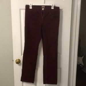 Burgundy Corduroy matchstick pants size 28 regular
